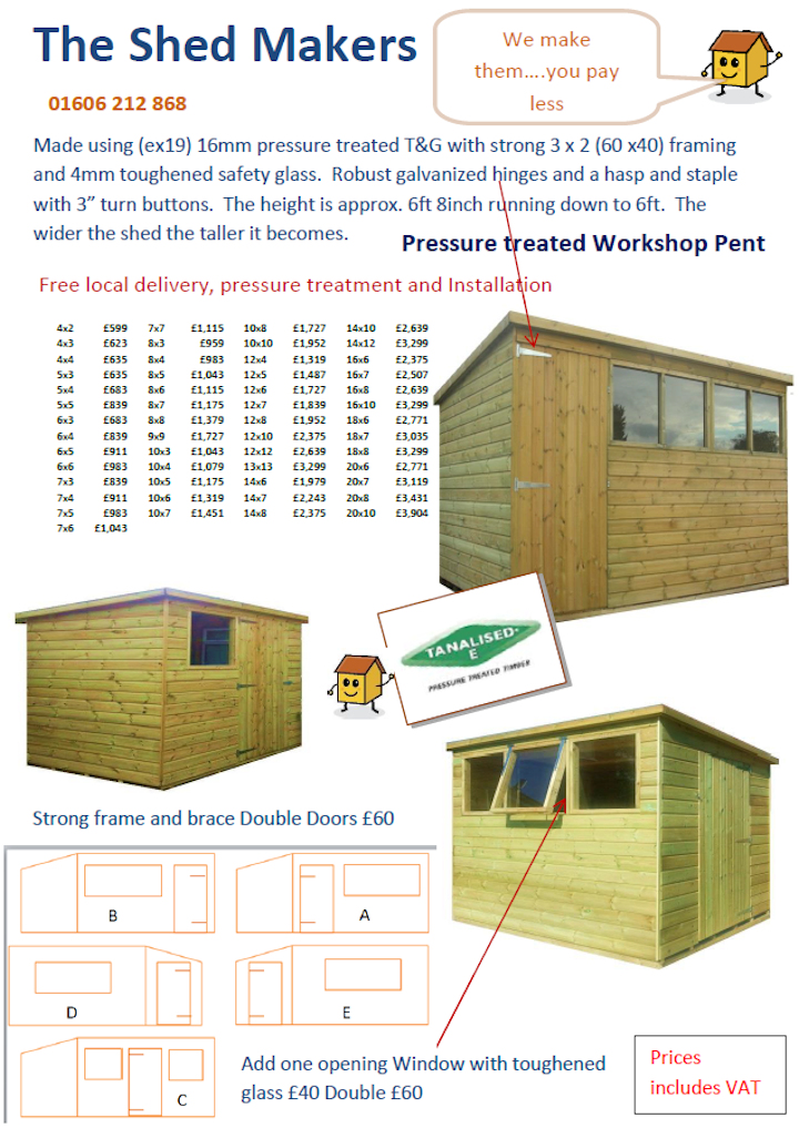 Tan Workshop Pent price list
